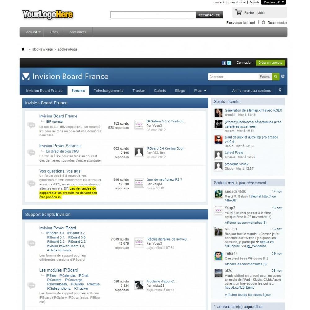 module - Personnalisation de Page - Wrapper / iFrame . Insérez une page web extérieure - 3