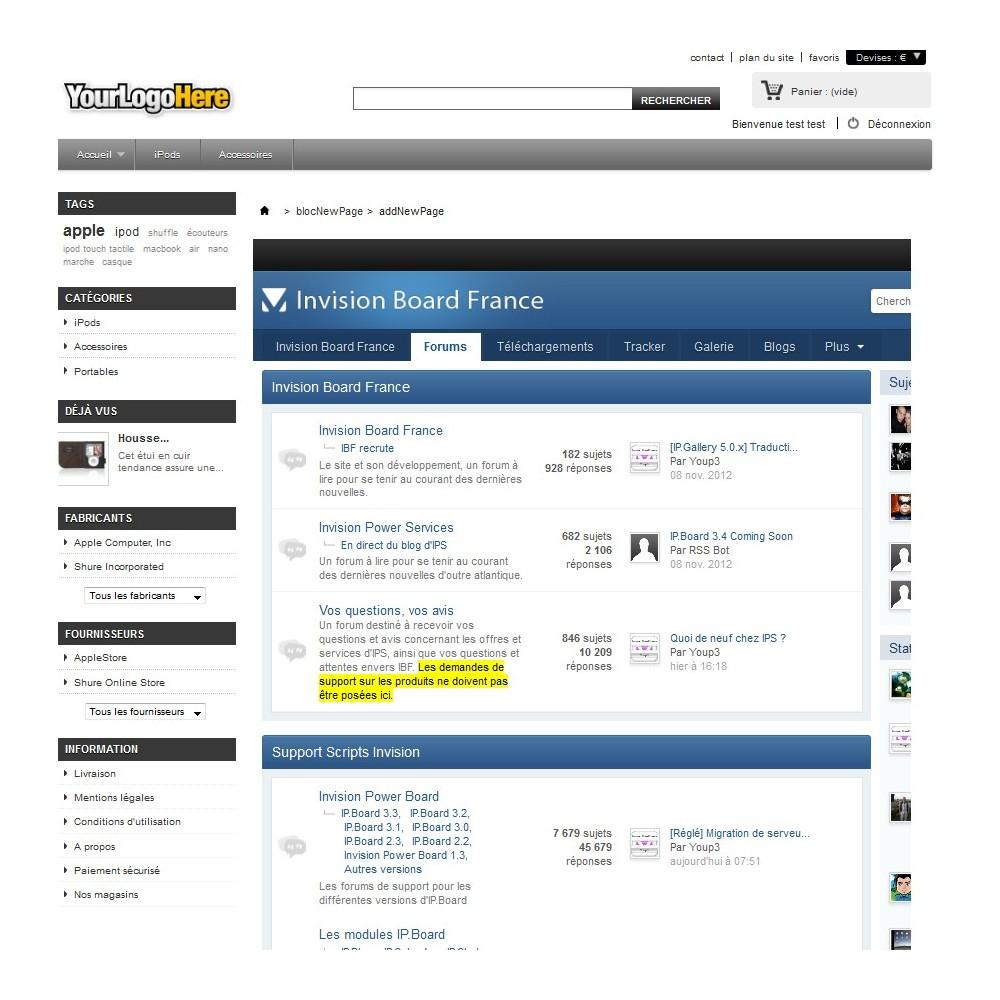 module - Personnalisation de Page - Wrapper / iFrame . Insérez une page web extérieure - 6
