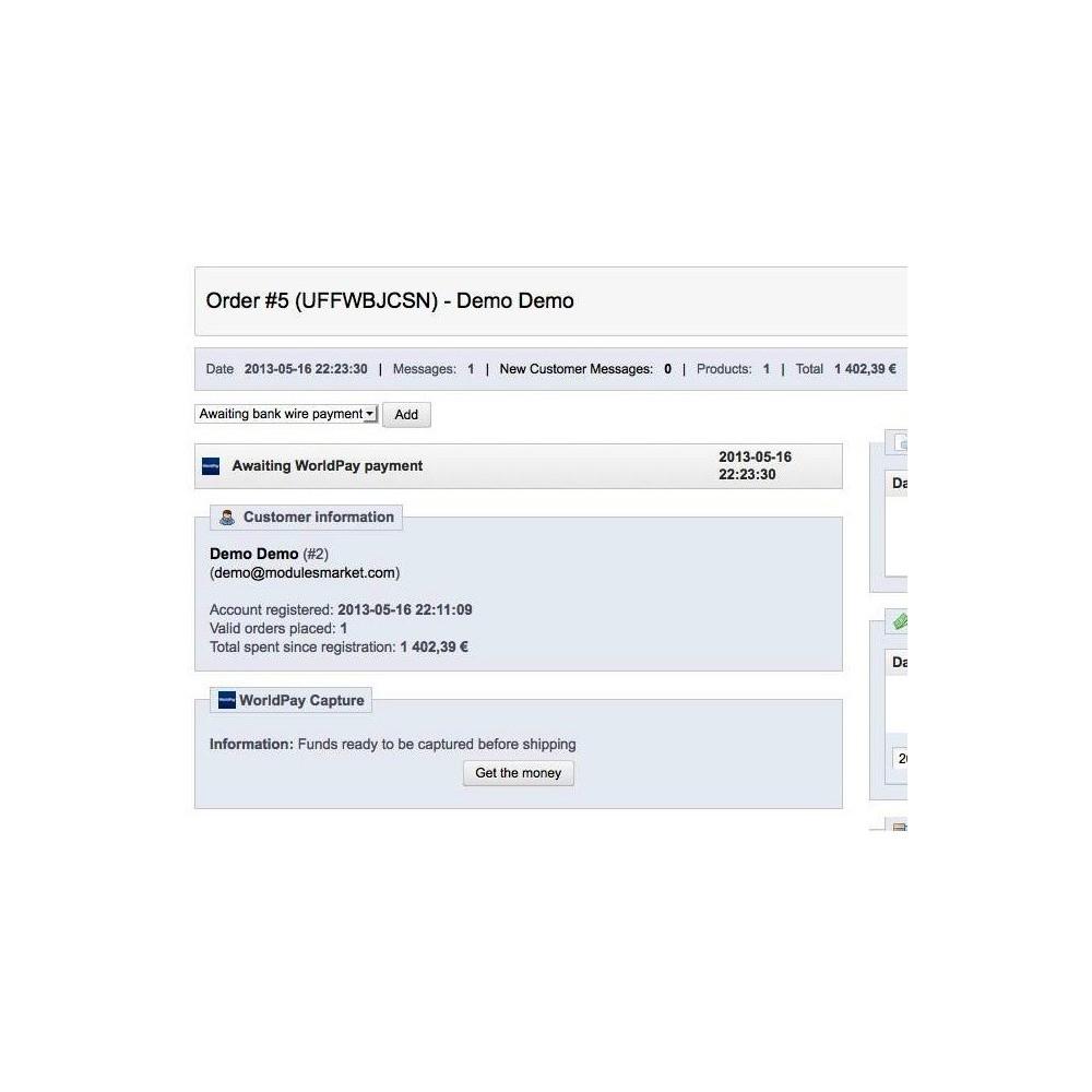 module - Zahlung per Kreditkarte oder Wallet - WorldPay - 6