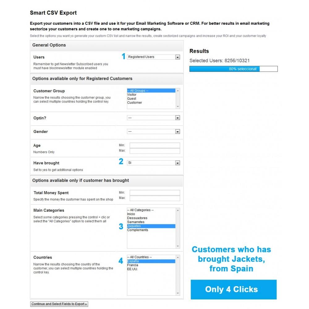 module - Import & Export de données - Smart CSV Export - 7