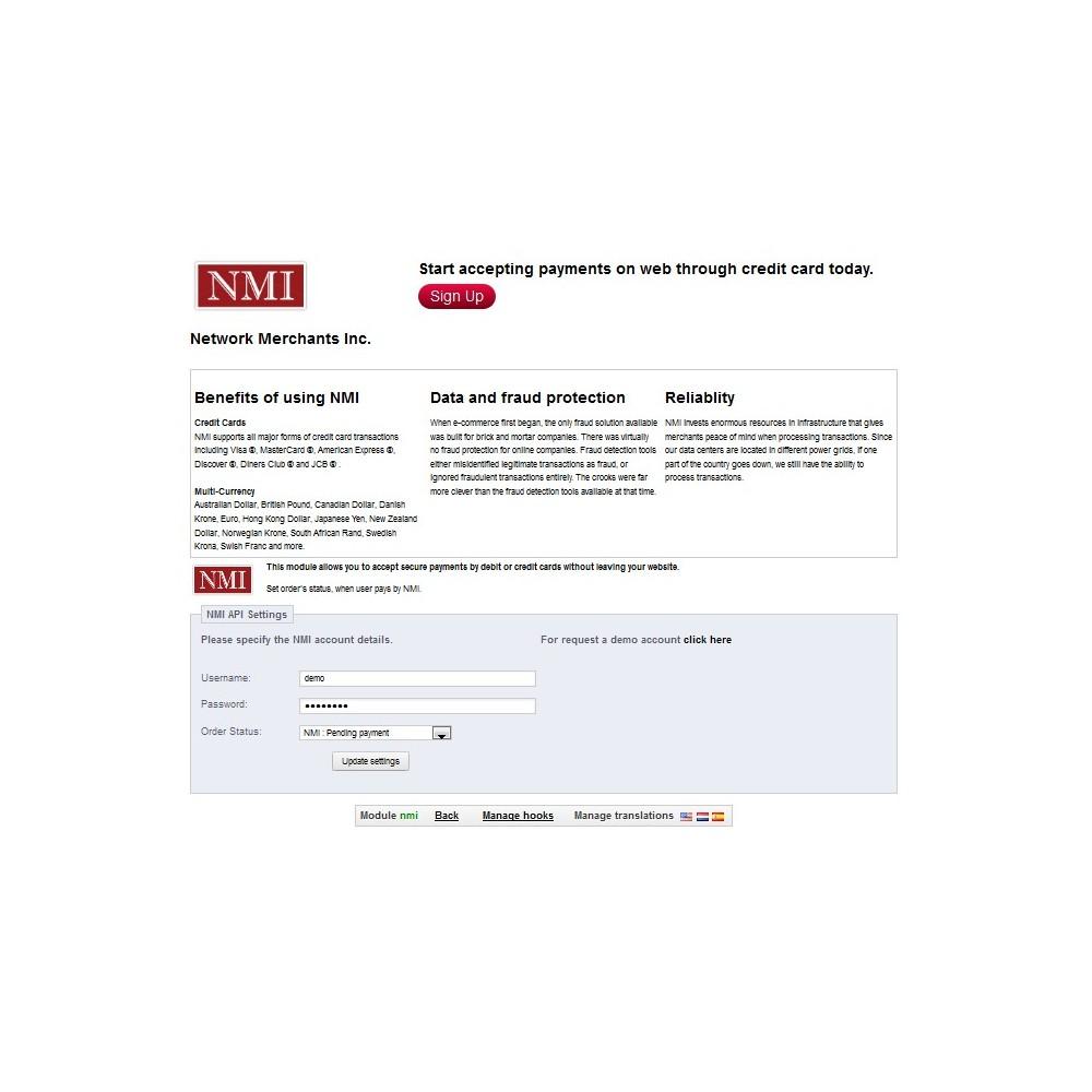 module - Zahlung per Kreditkarte oder Wallet - NMI Payment Gateway - 3