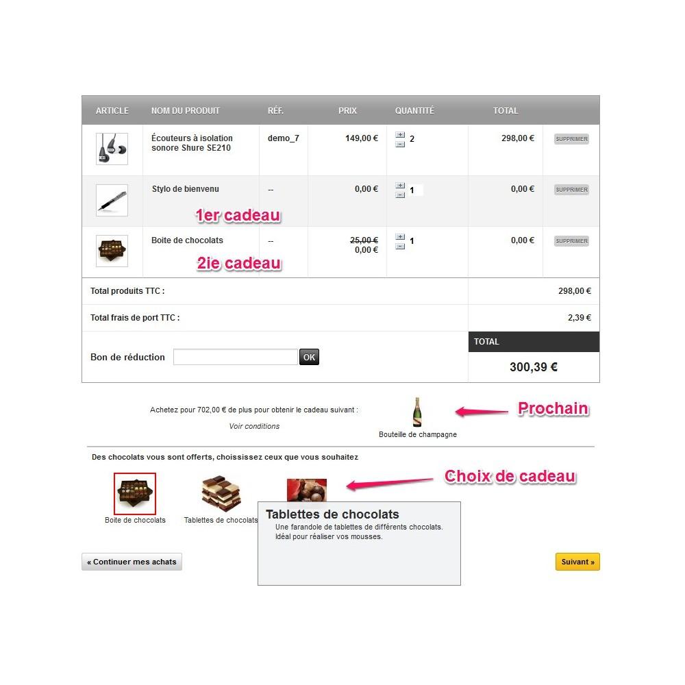 module - Promotions & Cadeaux - Olea Gift On Order - Ajout de Cadeaux au panier - 6