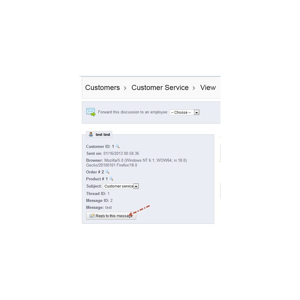 module - SAC - Predefined Standard Message Reply on Customer Service - 6