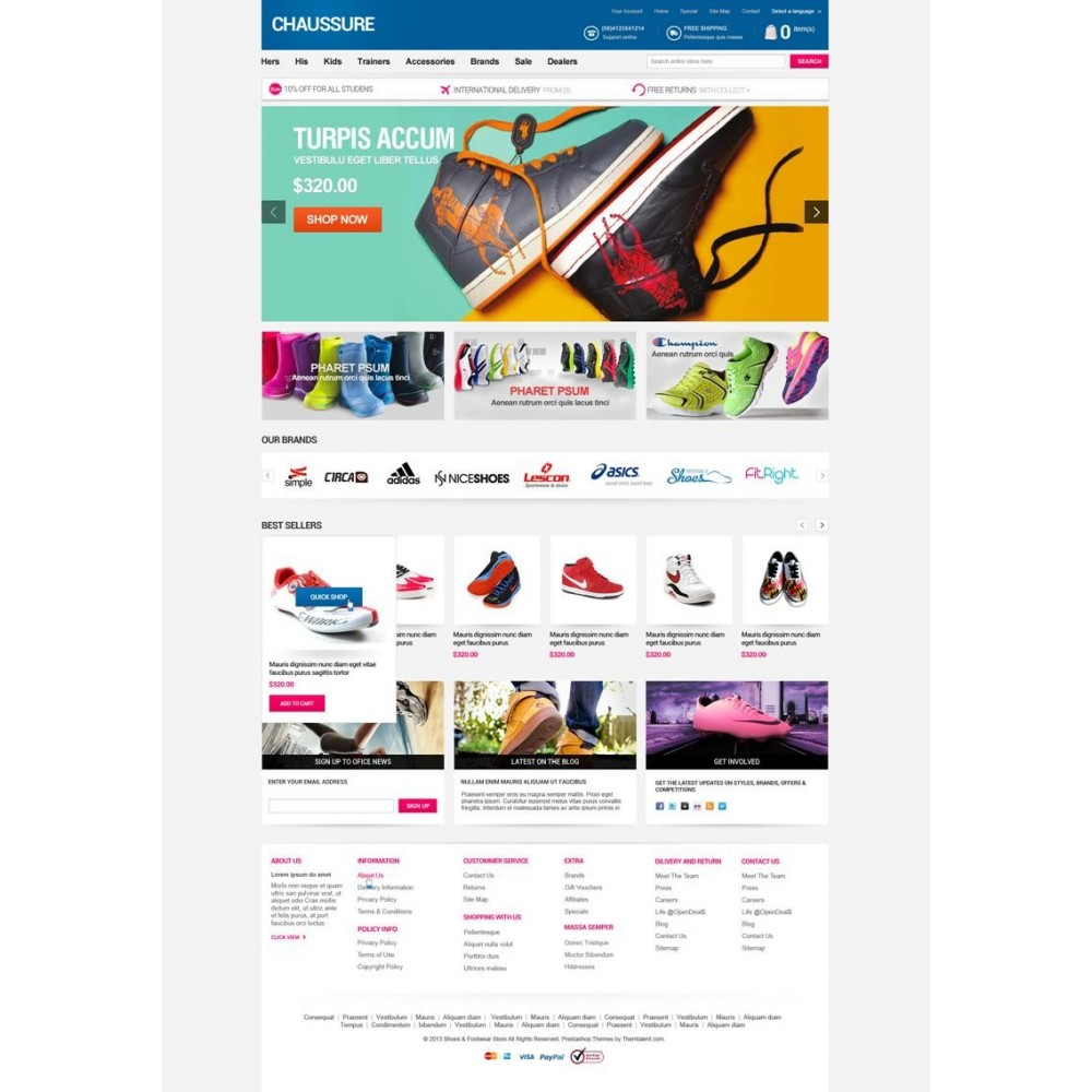 theme - Moda & Obuwie - Shoes Store Responsive PrestaShop Theme - ET Chaussure - 2