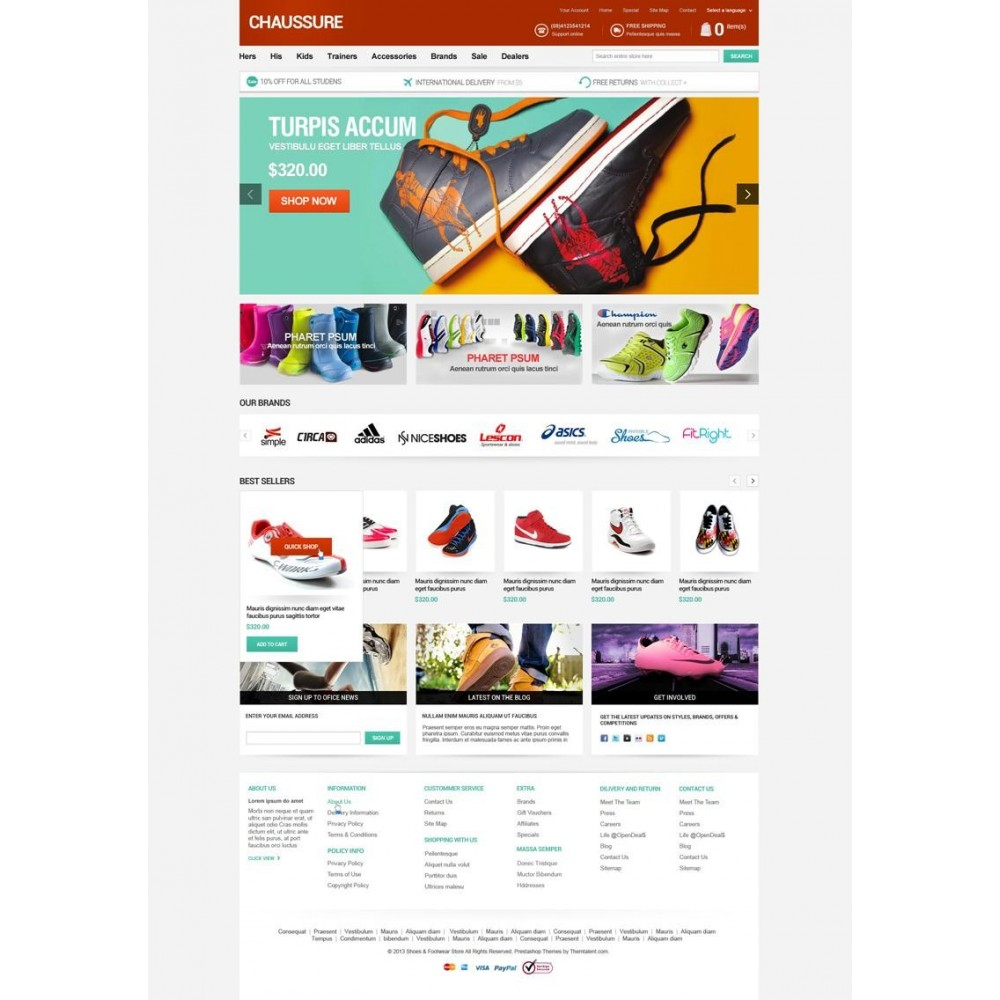 theme - Moda & Obuwie - Shoes Store Responsive PrestaShop Theme - ET Chaussure - 3