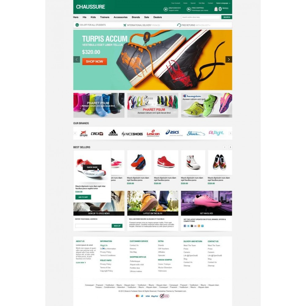 theme - Moda & Obuwie - Shoes Store Responsive PrestaShop Theme - ET Chaussure - 4