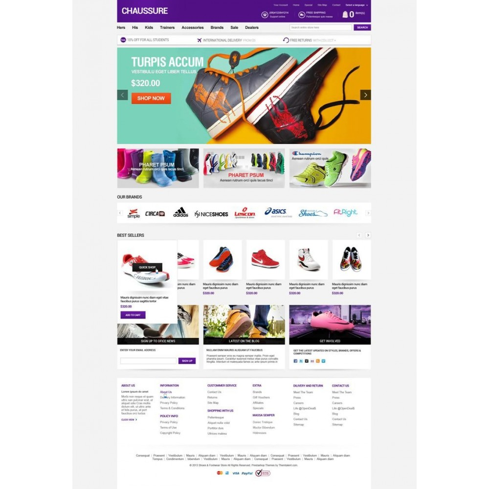 theme - Moda & Obuwie - Shoes Store Responsive PrestaShop Theme - ET Chaussure - 5