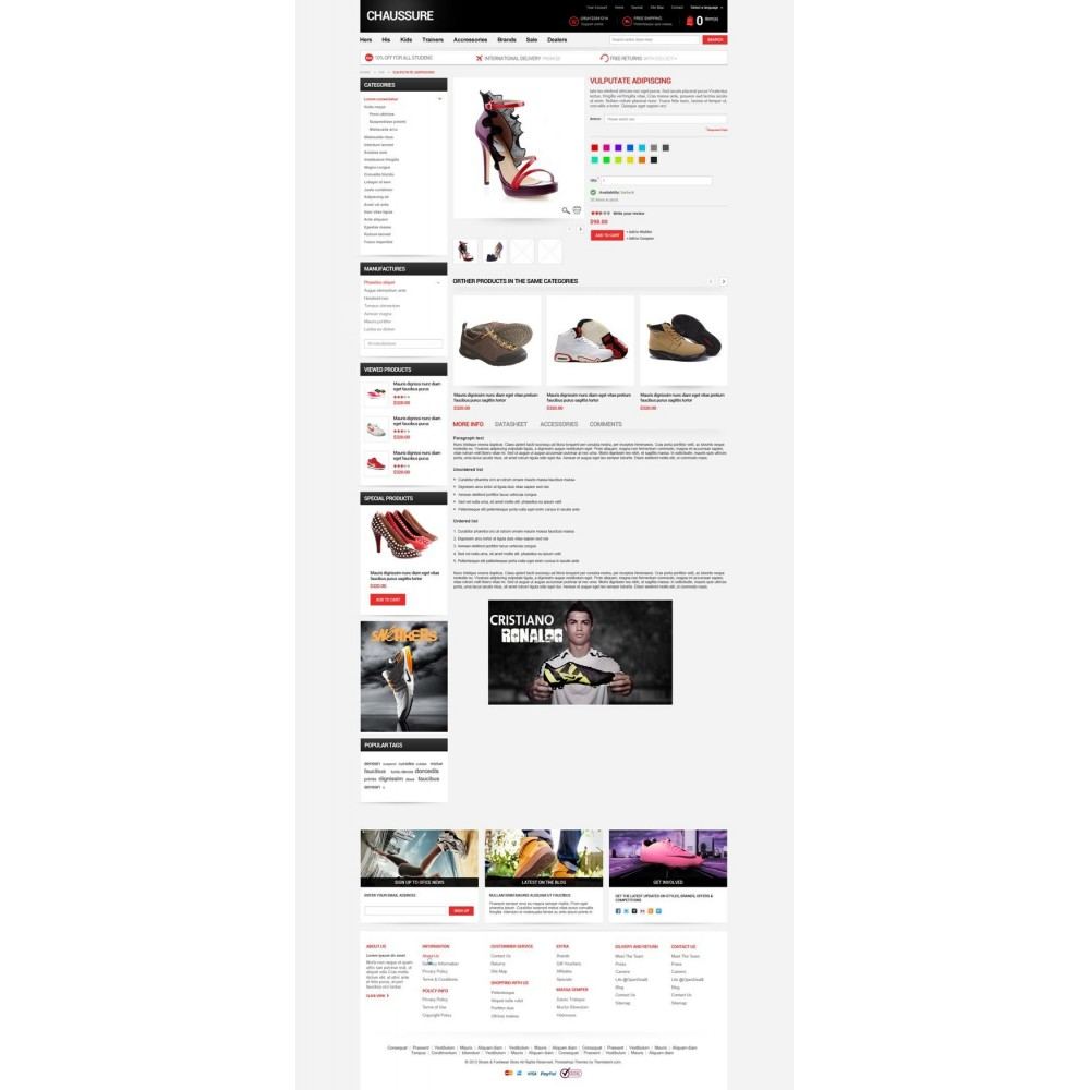 theme - Moda & Obuwie - Shoes Store Responsive PrestaShop Theme - ET Chaussure - 8