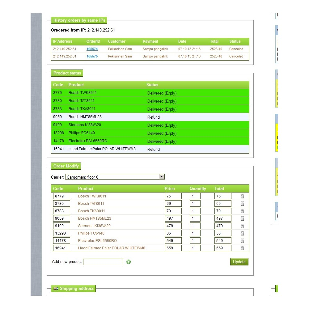 module - Gestion des Commandes - Ordered Products Status - 9