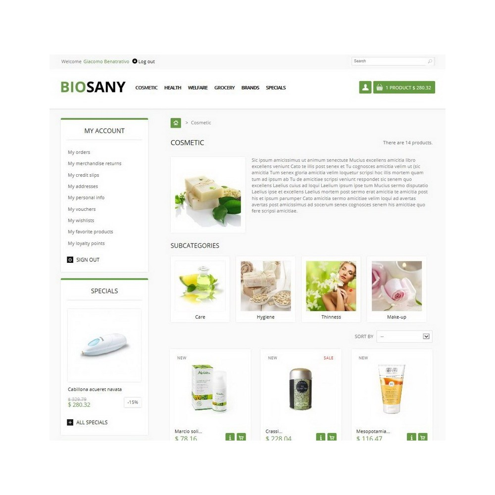 theme - Health & Beauty - Biosany - 2