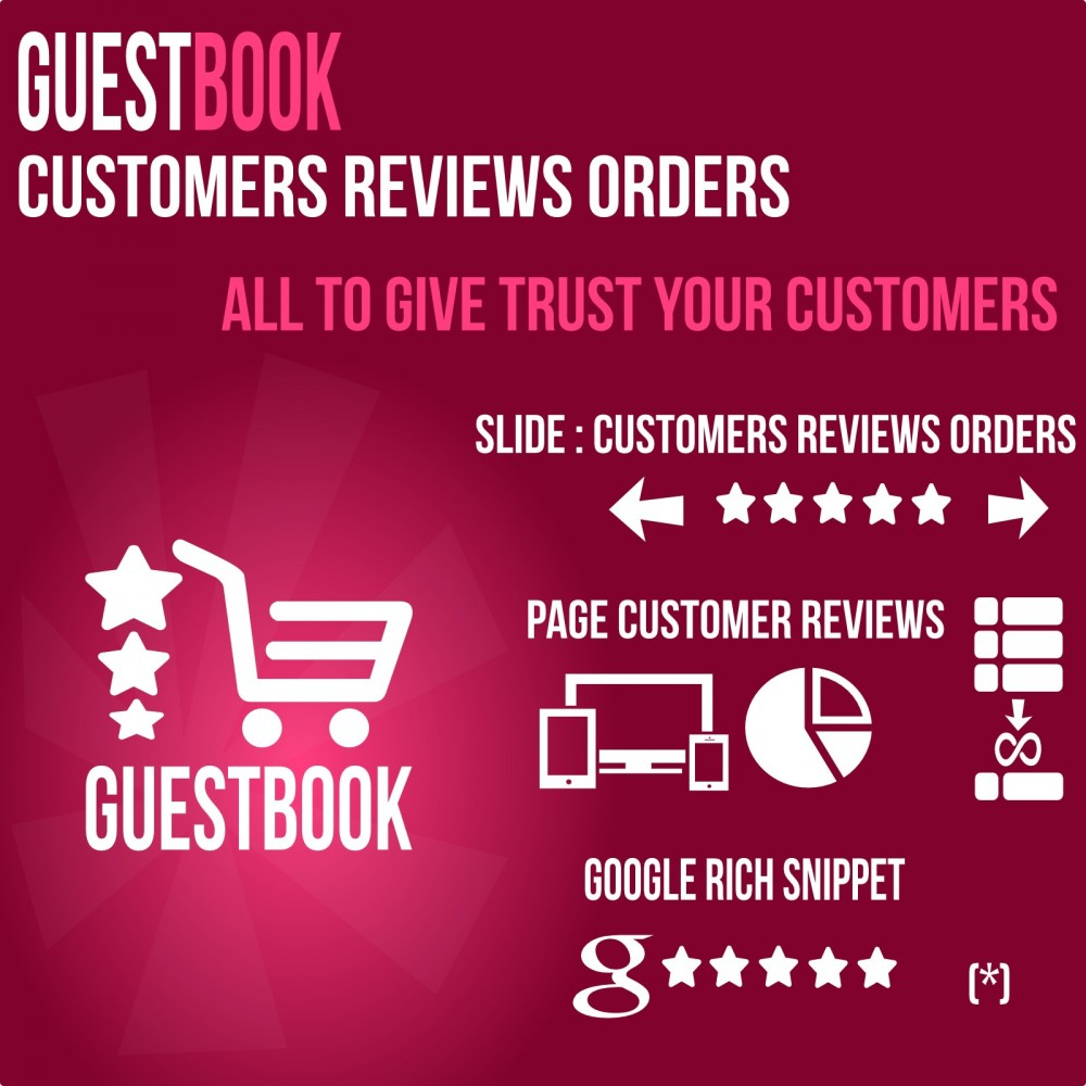module - Отзывы клиентов - Guestbook orders customers reviews - 1