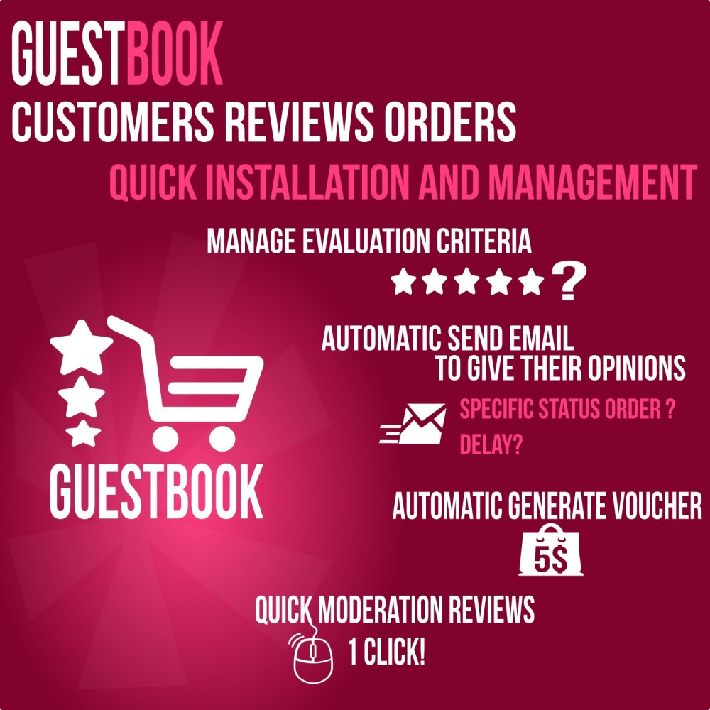 module - Отзывы клиентов - Guestbook orders customers reviews - 2