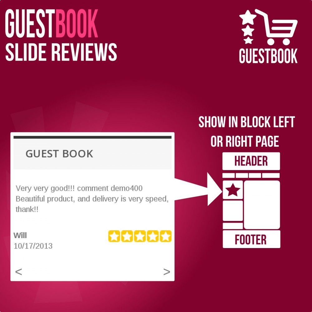 module - Отзывы клиентов - Guestbook orders customers reviews - 3