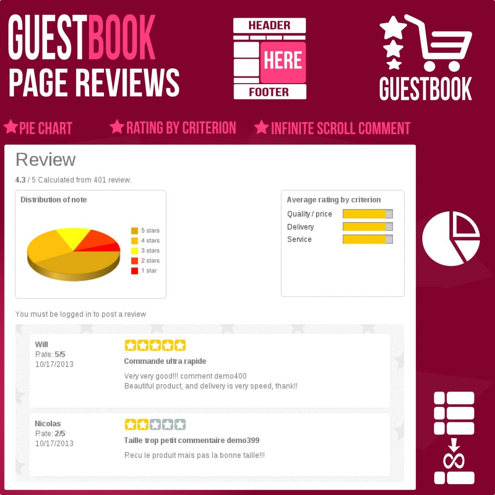 module - Отзывы клиентов - Guestbook orders customers reviews - 4