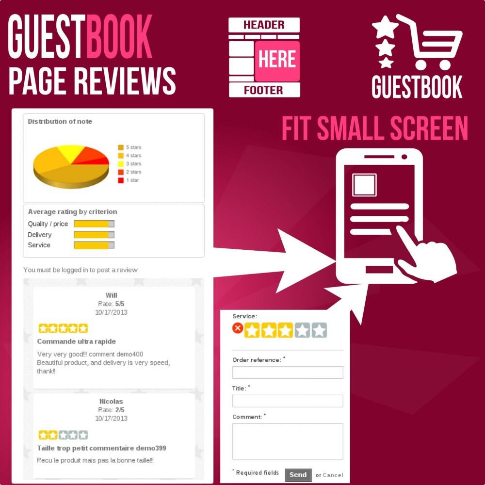module - Отзывы клиентов - Guestbook orders customers reviews - 5