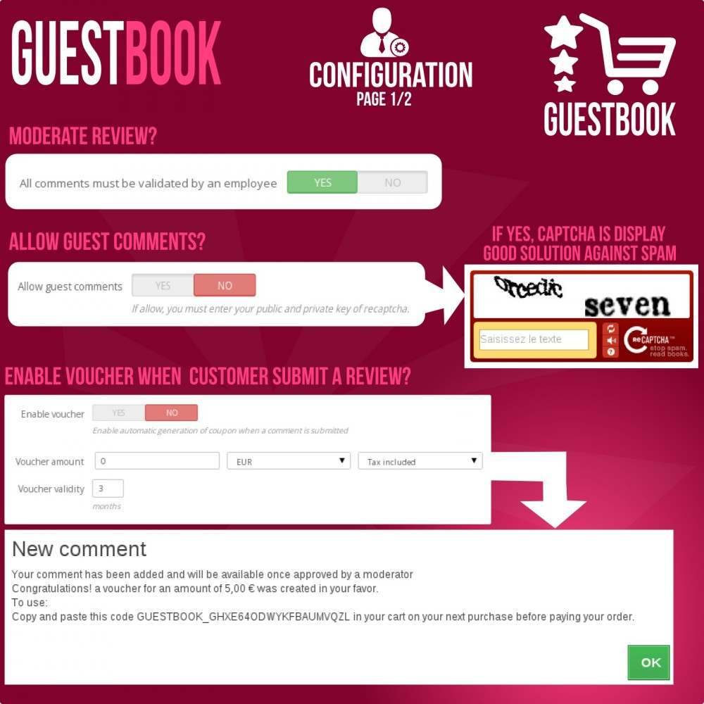 module - Отзывы клиентов - Guestbook orders customers reviews - 7