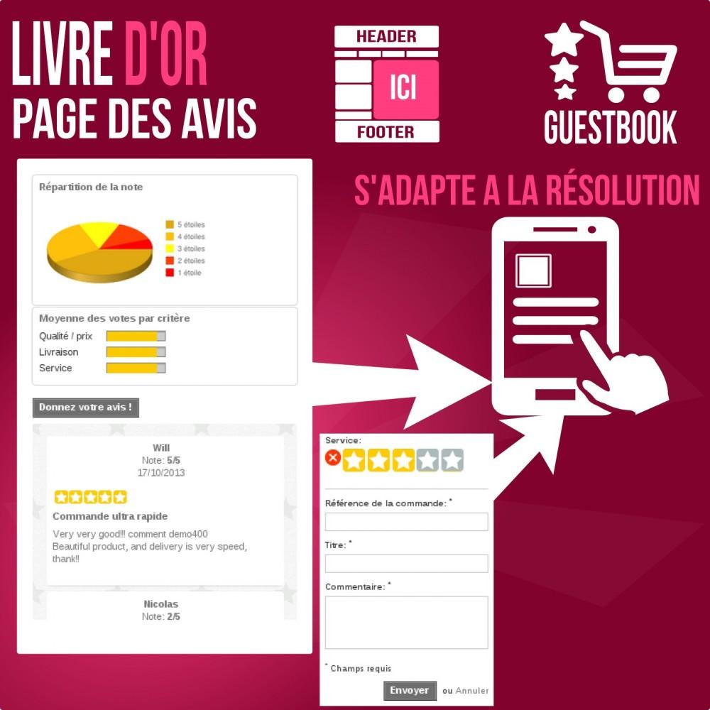 module - Avis clients - Livre d or : avis des commandes, rassurez vos clients! - 5