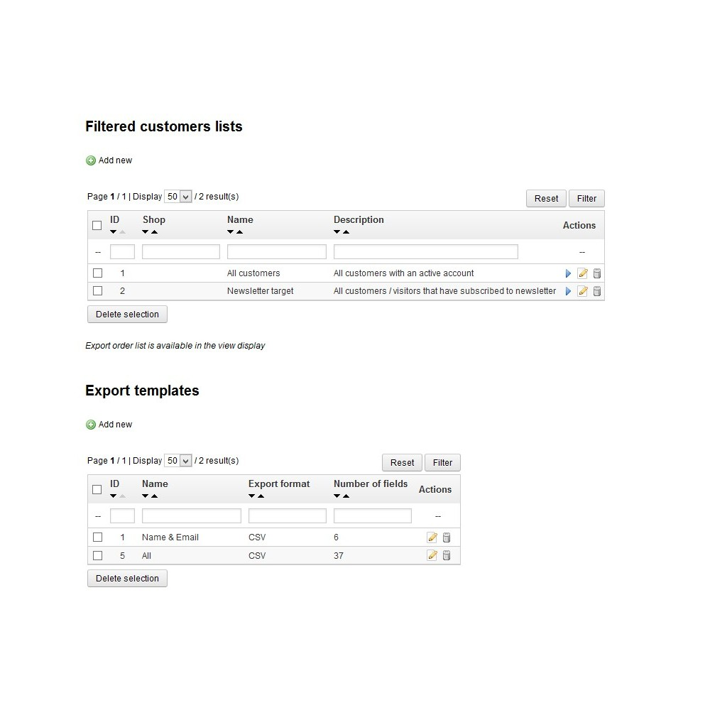 module - Импорт и Экспорт данных - Customer Export - 1