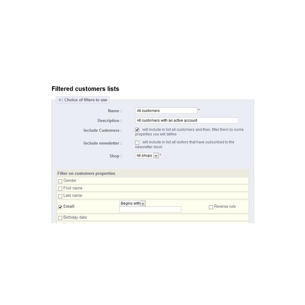 module - Импорт и Экспорт данных - Customer Export - 2