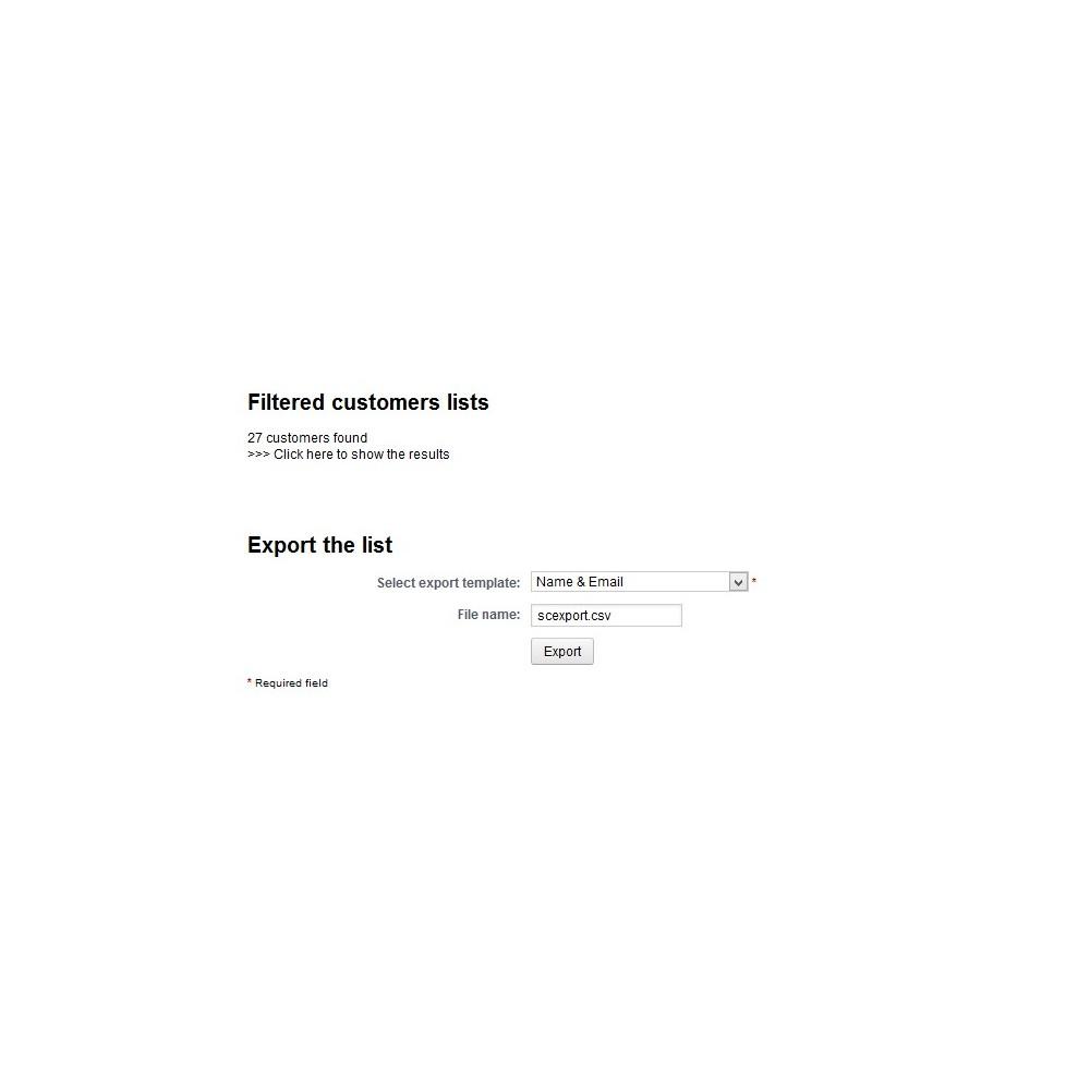 module - Импорт и Экспорт данных - Customer Export - 4