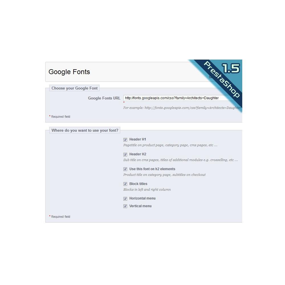 module - Individuelle Seitengestaltung - Google Fonts - 7
