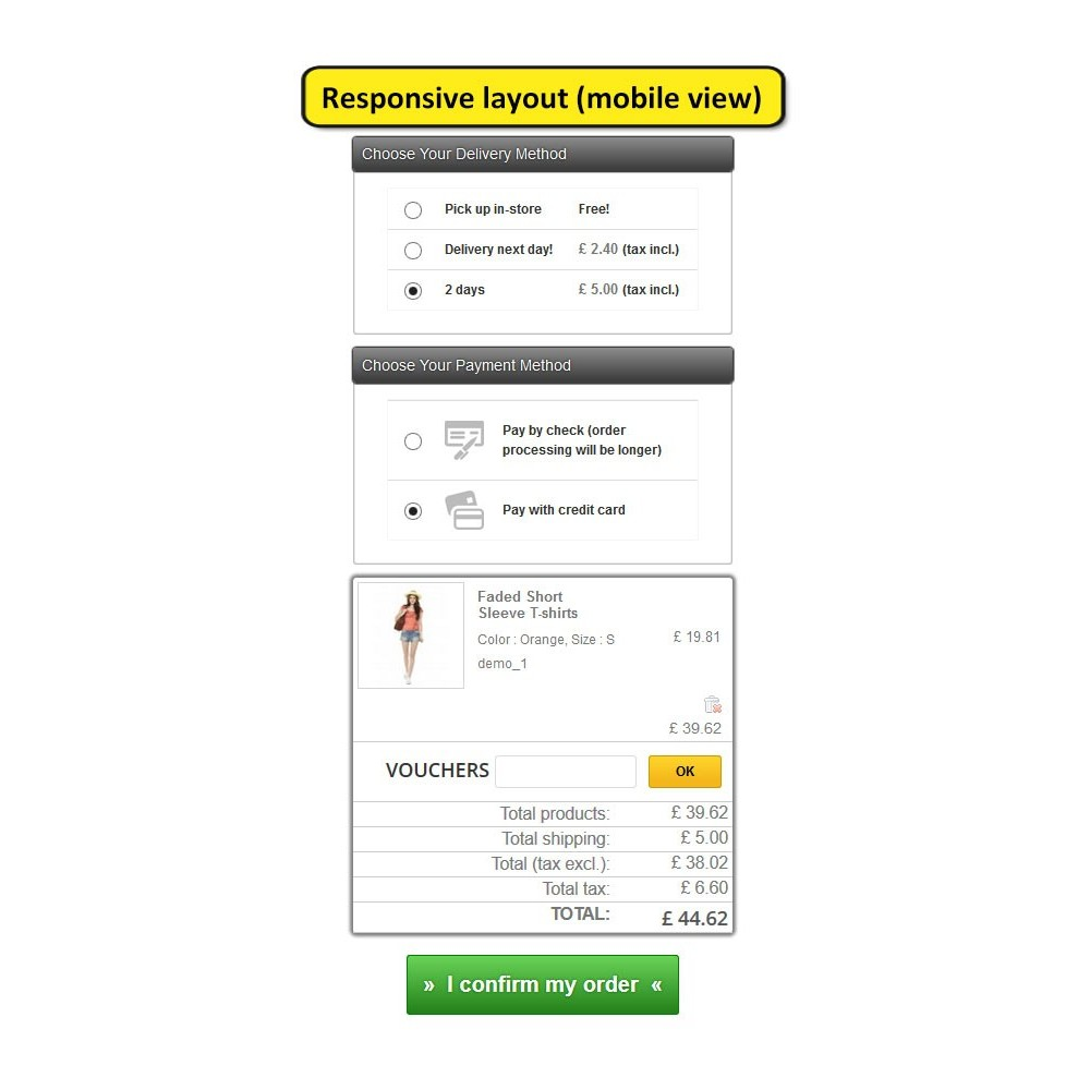 module - Express Checkout Prozesse - One page checkout for Prestashop - 9