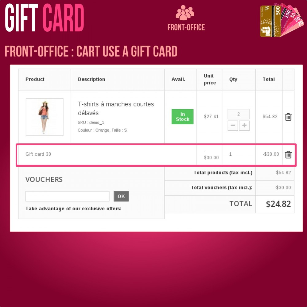 module - Wunschzettel & Geschenkkarte - Gift Card - Advanced solution - 8
