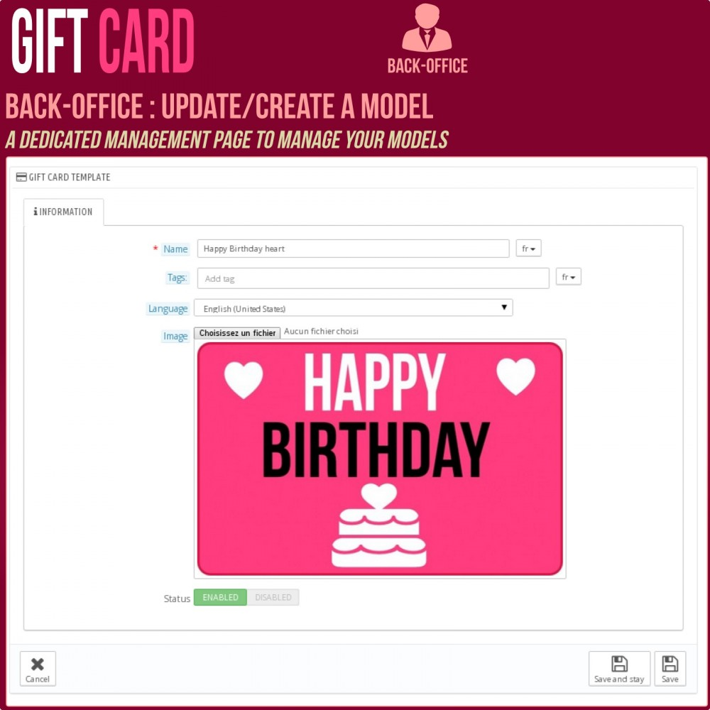 module - Wunschzettel & Geschenkkarte - Gift Card - Advanced solution - 10