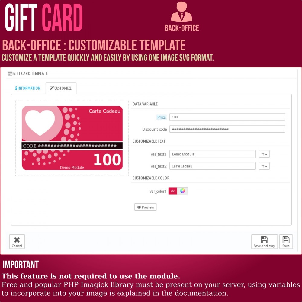 module - Wunschzettel & Geschenkkarte - Gift Card - Advanced solution - 11