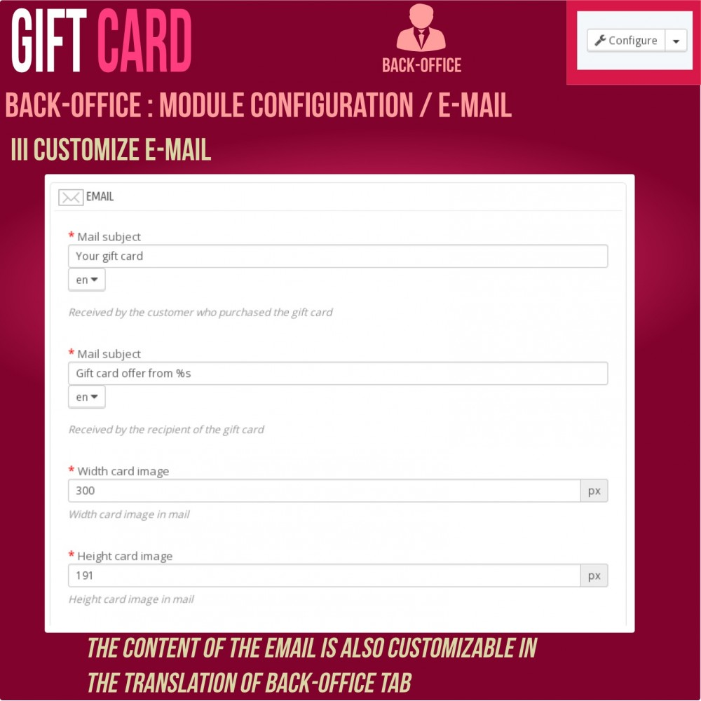 module - Wunschzettel & Geschenkkarte - Gift Card - Advanced solution - 19
