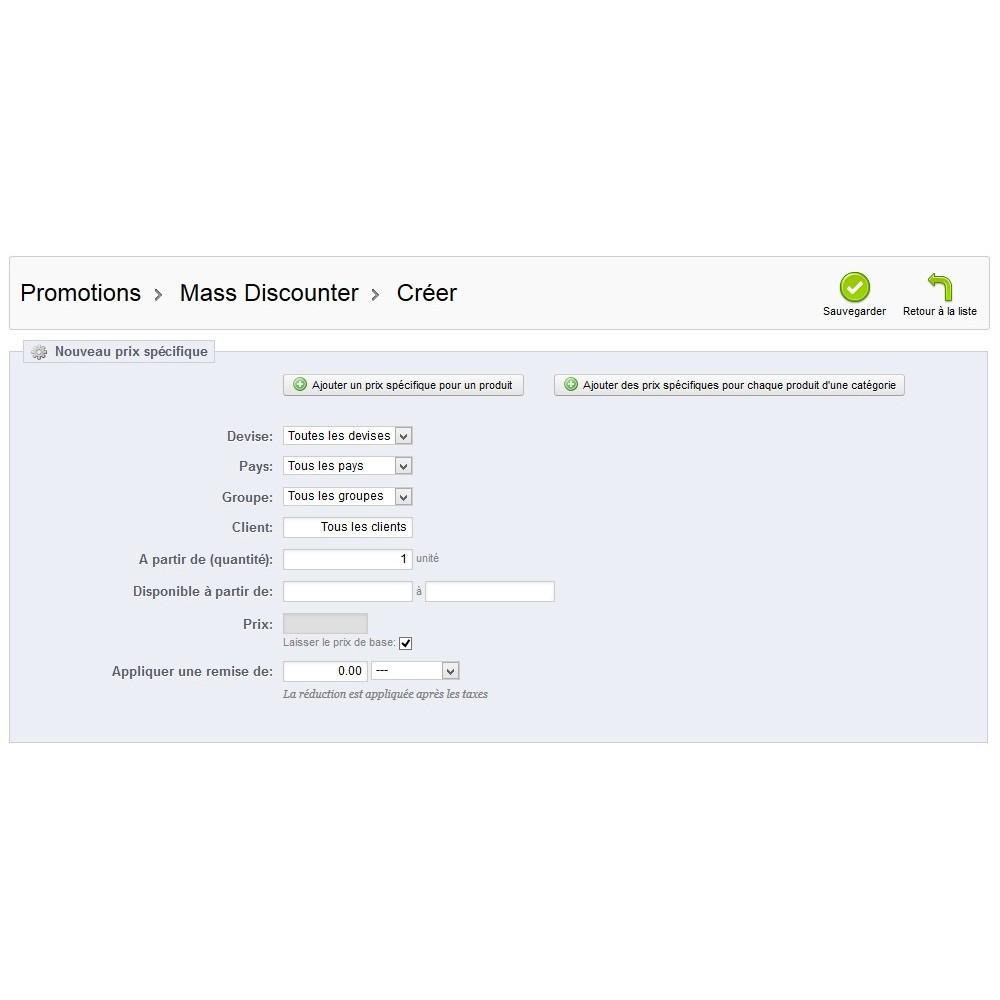 module - Promotions & Cadeaux - Mass Discounter: Gestion de vos promotions en masse - 10
