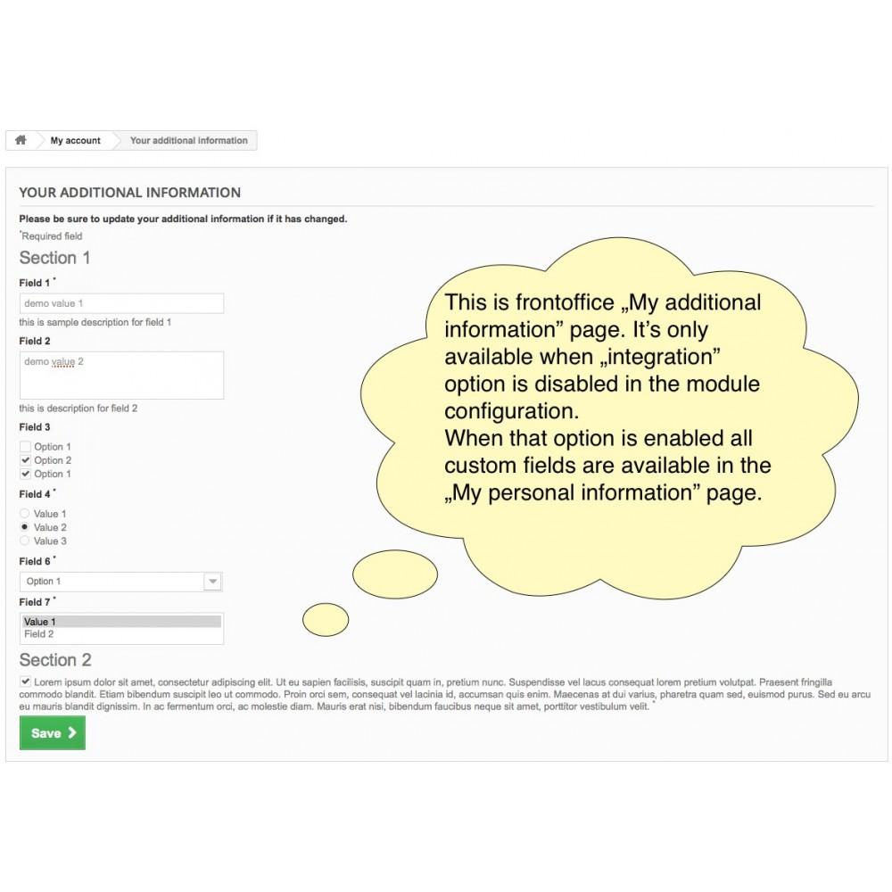 module - Registratie en Proces van bestellingen - Custom Fields - 17