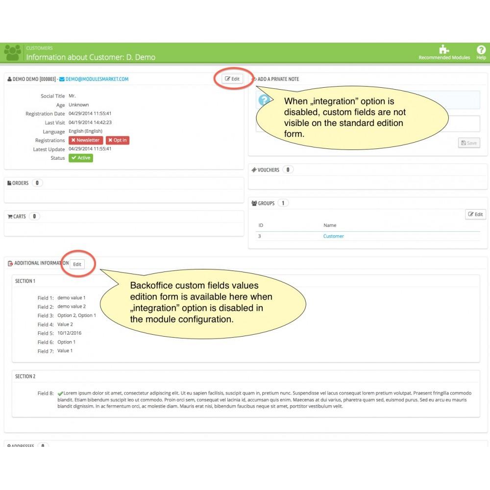module - Inscripción y Proceso del pedido - Custom Fields - 19