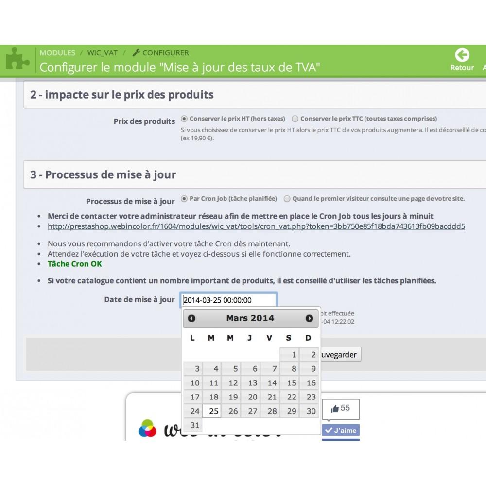 module - Gestión de Precios - Updating VAT rates - 3
