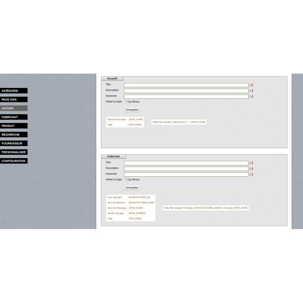 module - SEO (Indicizzazione naturale) - SEO Meta Tags Generator - 6