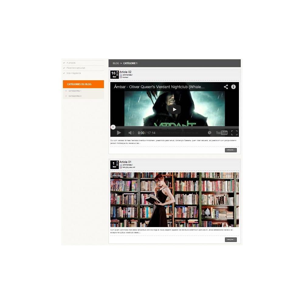 module - Блог, форумов и новостей - Article & Video Blog for Prestashop - 4