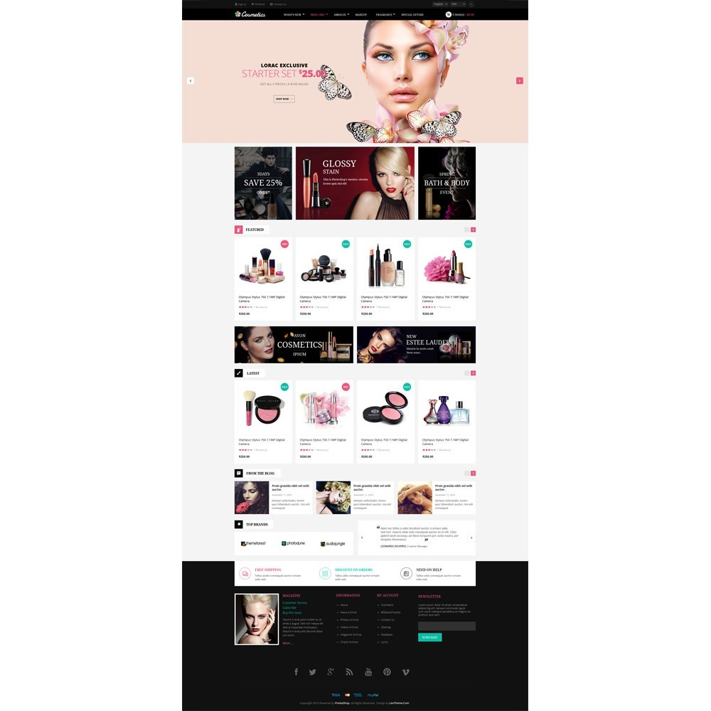 theme - Salute & Bellezza - Leo Cosmetics - Organic, Health, Pharmacy, Beauty store - 2