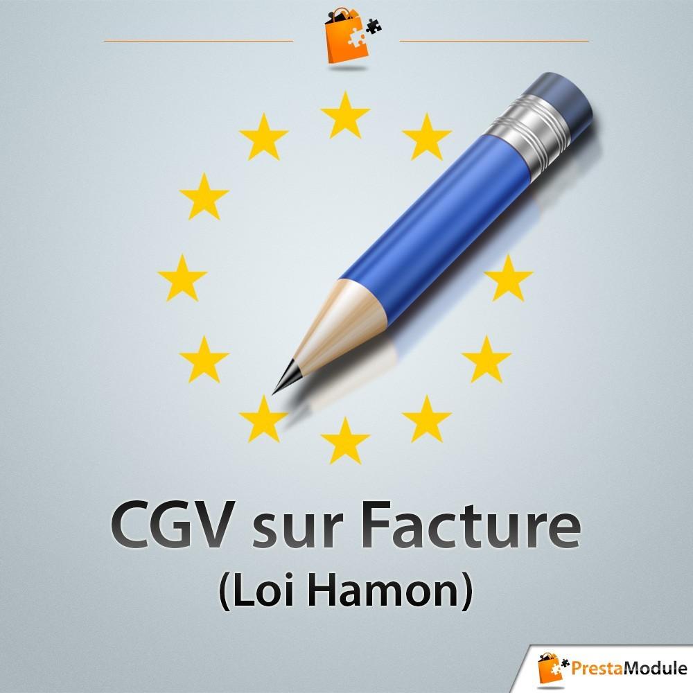 module - Législation - CGV sur Factures - Loi Hamon - 1