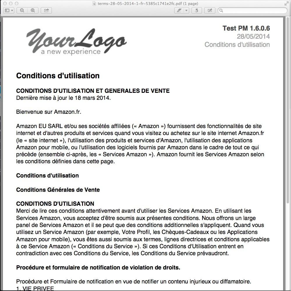 module - Législation - CGV sur Factures - Loi Hamon - 4
