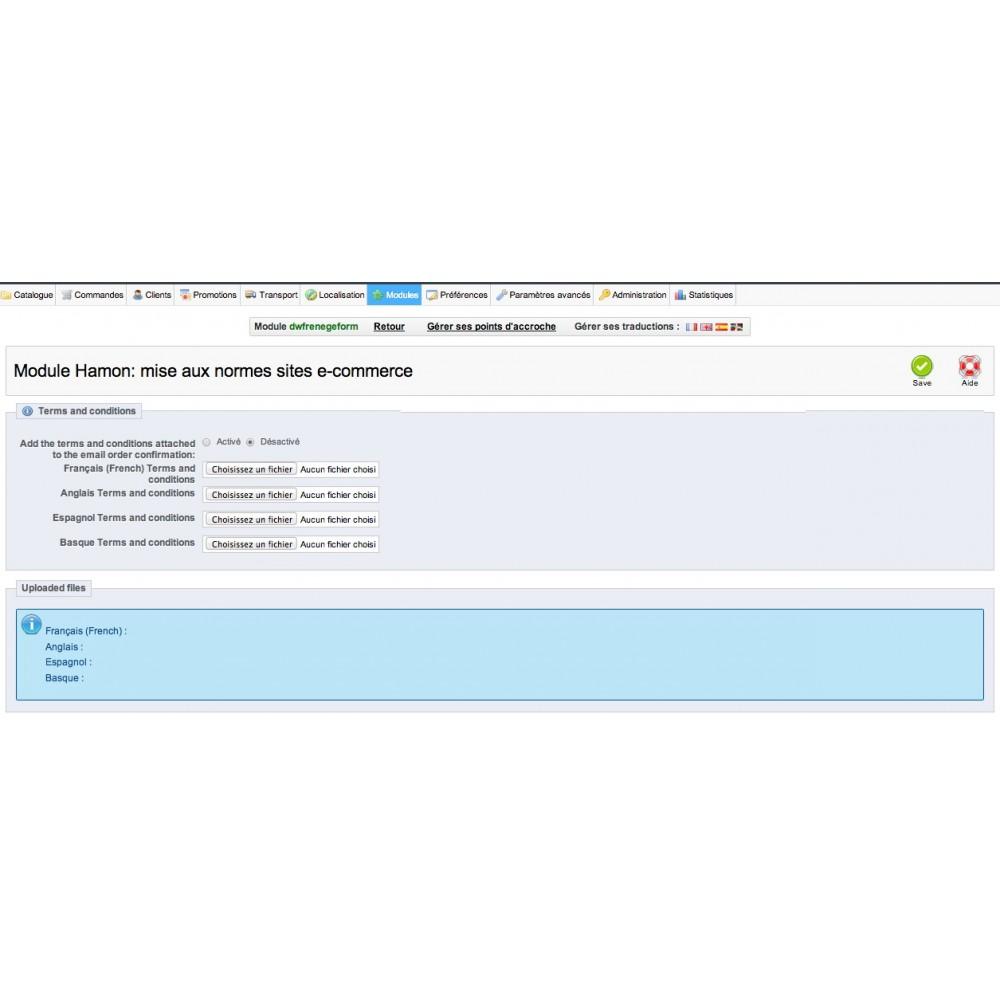 module - Législation - Hamon gestion complète : rétractation + CGV en PJ - 5