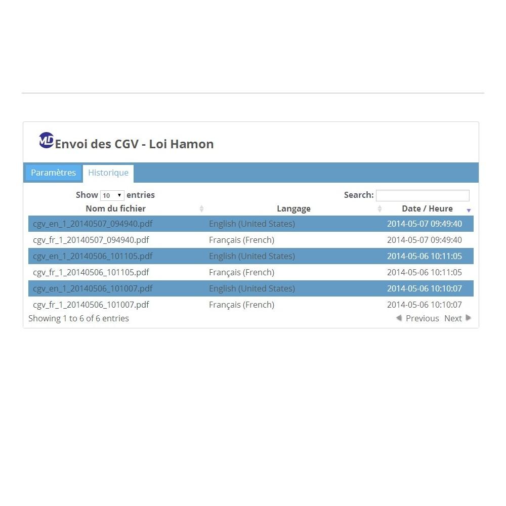 module - Législation - Envoi automatique des conditions générales de vente - 2