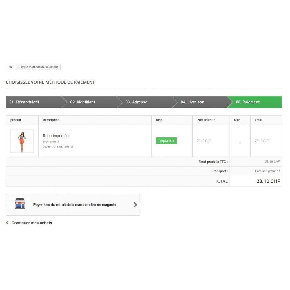 module - Paiement en Magasin - Paiement en magasin - 2