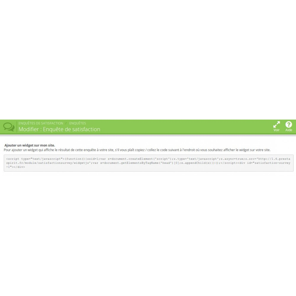 module - Formulario de contacto y Sondeos - Satisfaction Survey - 12