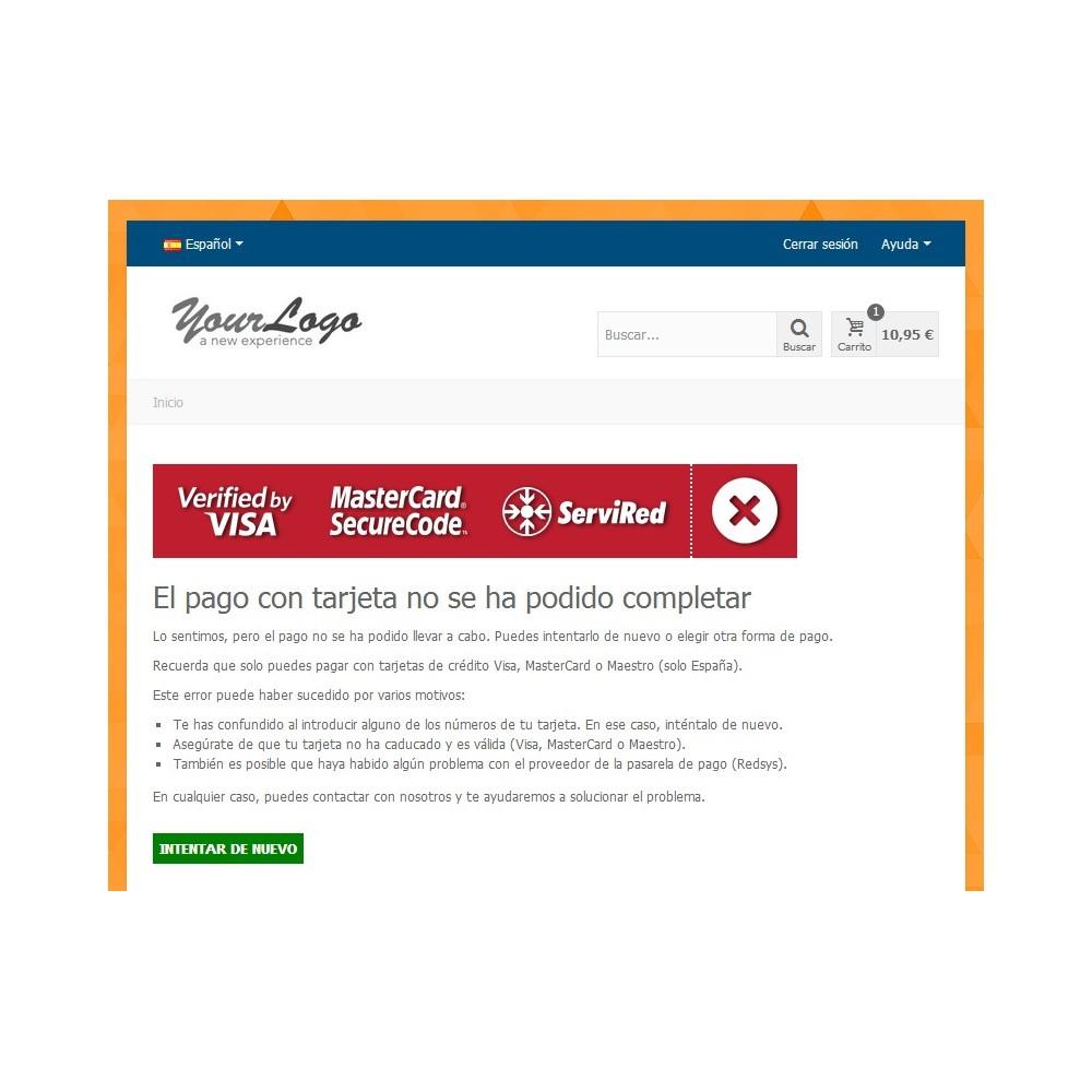 module - Płatność kartą lub Płatność Wallet - Redsys Virtual POS - Card payment (Sermepa / Servired) - 4
