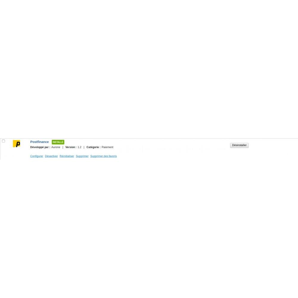 module - Paiement par Carte ou Wallet - Paiement Postfinance de la Poste Suisse - 2