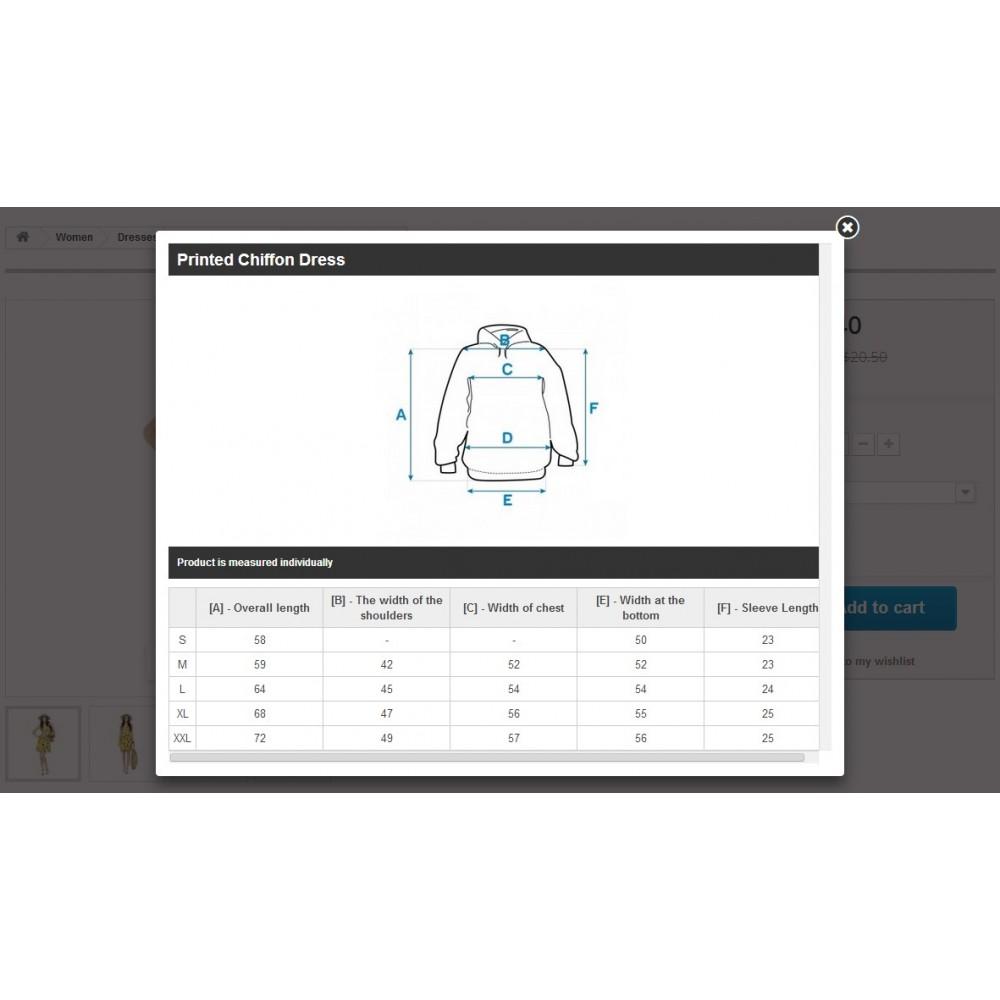 module - Размеры - Подбор Размеров - 5