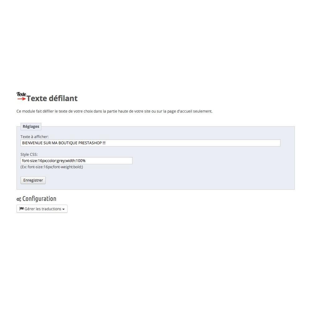 module - Outils de navigation - Texte Défilant - 2