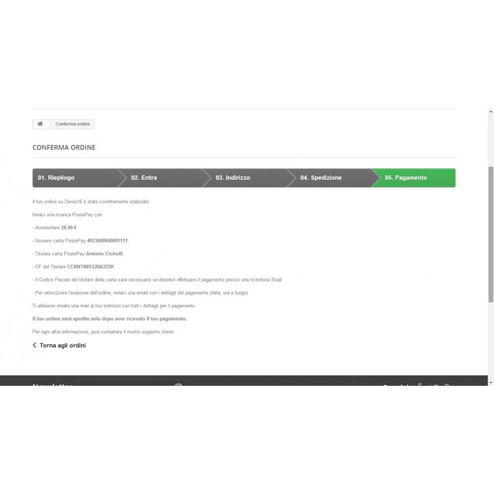 module - Prepayment - PostePay Module - 4