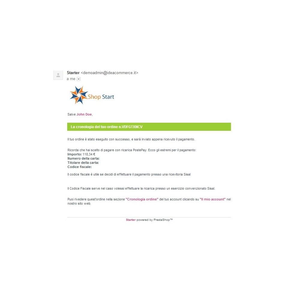 module - Prépaiement - PostePay Module - 10