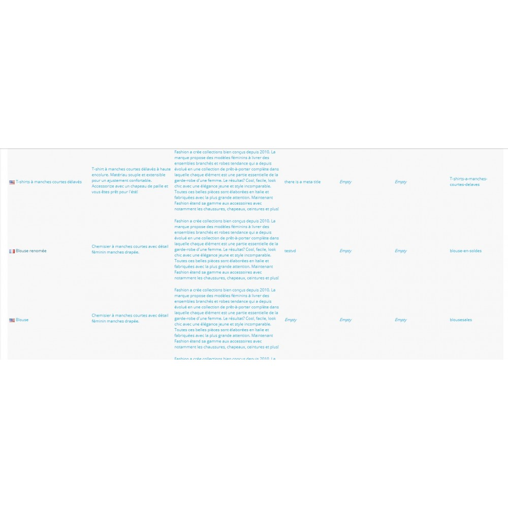 module - Edition rapide & Edition de masse - Fastmanager - administration en masse de vos produits - 42